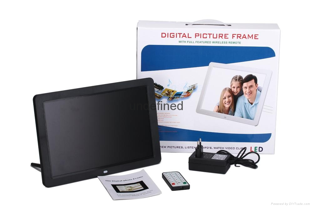 "Wholesale ""10"" 12"" 15"" inch digital photo frame 10""Inch AD. promotion Gift frame 7"