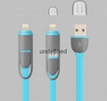 Hot sale 2 in 1 5pin 8pin micro usb cable data charge usb cable