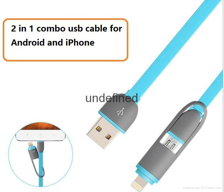 2-in-1 combo cable for all smart phones
