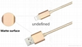 Wholesale 1m nylon braided usb cable 8 pin charge and sync cable