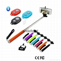 Z07-1 Monopod Selfie Sticks Monopod with Clip Remote Shutter