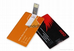 Promotional gift card usb flash drive Custom logo Business Card Usb Flash Drive