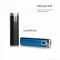 Portable mobile phone power bank 2600mAh mini travel charger