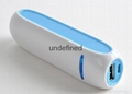 Colorful flying shuttle battery charger Portable power bank 2000mah