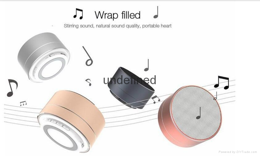 New Design Mini Portable Speakers Metal Wireless Bluetooth Speaker With FM Radio 2