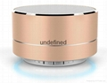 New Design Mini Portable Speakers Metal Wireless Bluetooth Speaker With FM Radio 1