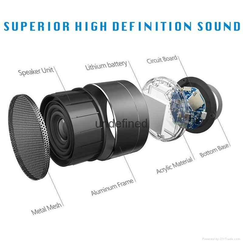 New Design Mini Portable Speakers Metal Wireless Bluetooth Speaker With FM Radio 18