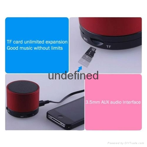 2017 New Fashion S10 BT 3.0+EDR Wireless Portable Mini speaker With FM Radio 12