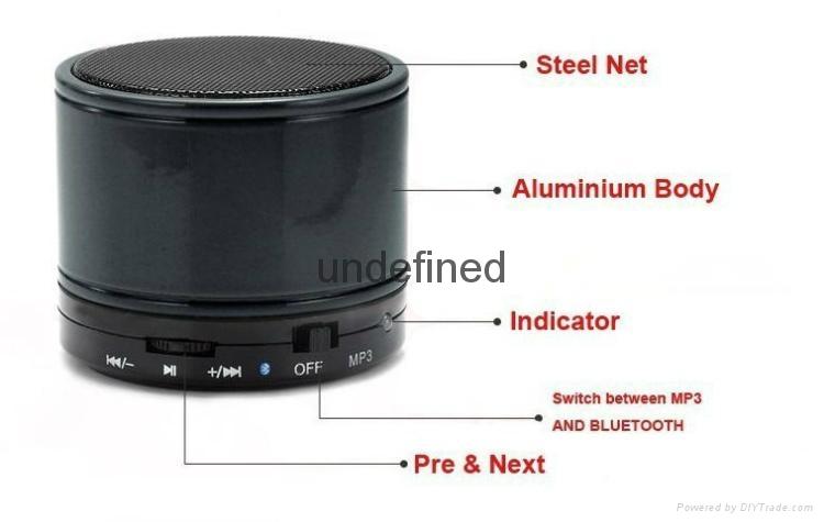 2017 New Fashion S10 BT 3.0+EDR Wireless Portable Mini speaker With FM Radio 7