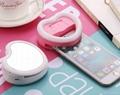 Promotion Gift Selfie  Beauty LED Artifact  Flash Heart Shape Ring for Phone