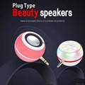 Newest style 3.5mm plug type mini speaker with beauty selfie spotlight lamp
