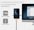 2017 new arrivas luxury stainless steel alloy fast charging usb cable for iPhone
