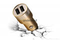 Mobile Phone Metal  USB Charger Safety Hammer Car Charger 2 USB Ports 5V 2.4A