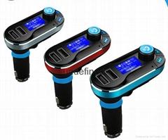 Bluetooth MP3 Player Handsfree Car Kit + Dual USB Charger + FM Transmitter MP3