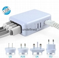 4 USB AC Power Multi Adapter Travel Wall Charger US EU UK AU Plug USB Charger