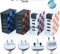 Universal EU UK US Plug 4 USB Ports