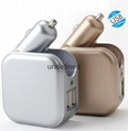 5V 2.1A car and home charger multiple usb wall charger