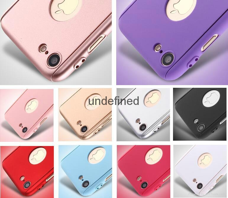 360 full cover protective PC  phone case with with tempered glass for iPhone 6/7 9
