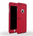 360 full cover protective PC  phone case with with tempered glass for iPhone 6/7