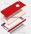 360 full cover protective PC  phone case with with tempered glass for iPhone 6/7 11