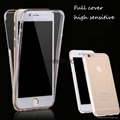 Wholesale 360 degree full protective silicone tpu phone cover case for iphone 7