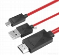 Micro USB MHL to HDMI Cable HDTV Adapter mhl hdmi for Samsung Galaxy S3 S4 S5