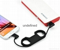 Bottle Opener Keychain cable 3IN1  USB Mobile Phone Charging Data Sync Cable