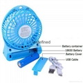 Promotion Office Mute Desktop Fan portable Mini USB Rechargeable Desk USB  Fan