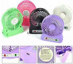 Promotion Office Mute Desktop Fan portable Mini USB Rechargeable Desk USB  Fan