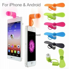 Newest design 2 in 1 mini OTG usb fan for Android and iphone,best gifts USB fan