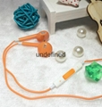 Colorful Universal 3.5mm wired stereo earphone for iPhone6,6+ with Crystal Box