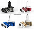 Factory supply 3 In 1 Car charger Cigarette Lighter Adapter 2 USB Port  5V 3.1A  6