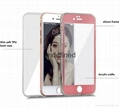 360 Degree Full Body Cover soft tpu case with touchable screen glass phone cases