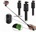 Folding Extendable Handheld Monopod selfie stick generation 3 Bluetooth monopod