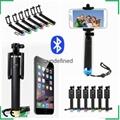 Folding Extendable Handheld Monopod selfie stick generation 3 Bluetooth monopod