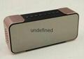 Portable Wireless Bluetooth Speaker PTH-305 Support FM Radio TF Time/Alarm Clock 4