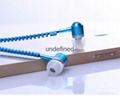 Promotional in-ear earphone, mobile phone wired earbuds, stereo zipper earphone