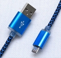 2.1A hemp rope charging usb cable data cable for iphone for samsung
