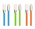 Hot Sell Metal Zinc Alloy USB Charge Flat Cable High Speed Micro USB Data Cable