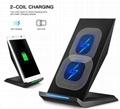 Newest 3 Coils Wireless Fast Charging Charger Pad Stand Dock Holder For S7S8