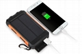 8000mah Waterproof Solar Power Bank Portable Mobile Phone Charger with Compass 4