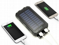 8000mah Waterproof Solar Power Bank Portable Mobile Phone Charger with Compass 5