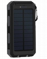 8000mah Waterproof Solar Power Bank Portable Mobile Phone Charger with Compass 13