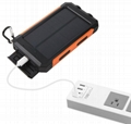 8000mah Waterproof Solar Power Bank Portable Mobile Phone Charger with Compass 14