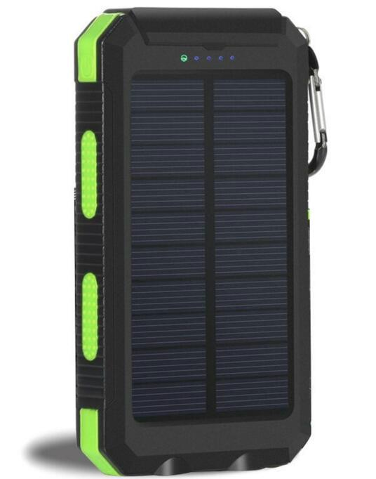 8000mah Waterproof Solar Power Bank Portable Mobile Phone Charger with Compass 18