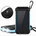 8000mah Waterproof Solar Power Bank Portable Mobile Phone Charger with Compass 1