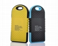 6000mah waterproof power bank outdoor hiking solar power bank for mobile phone
