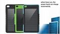 6000mAh/8000mah Waterproof Solar Power Bank Dual USB Backup Battery Charger