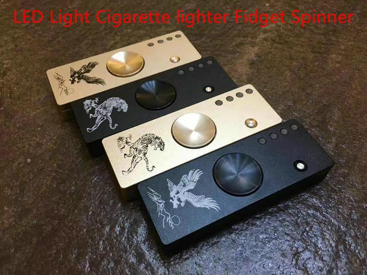 2017 Newest Metal with LED Light Cigarette lighter Fidget Spinner 2