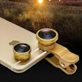 Universal 3 in 1 Clip-On Fish Eye +Wide Angle +Macro Mobile phone lens for phone